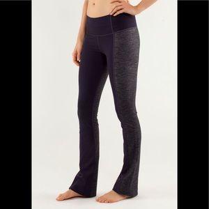 Lululemon Barre Pulse Pant Two Fabrics Denim Plum